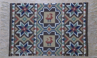 Antique Swedish kilim(Rolakan technique), no: 329, size: 73*48cm, wall hangings.