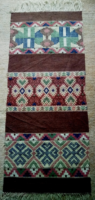 Antique Swedish kilim(Rolakan technique), no: 353, size: 119*52cm, wall hangings.