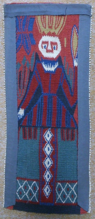 Antique Norwegian pictorial Kilim, no: 301, size: 54*22cm, the tapestry very beautiful, silk and wool on cotton.