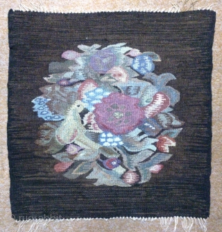 Antique Norwegian or Swedish Kilim, no: 316, size: 54*54cm, pictorial design, wall hangings.