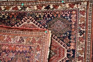 Qashgai Bag, low pile, size is 67 x 57 cm