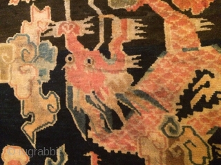 Circa 1925, Dragon and Pheonix rug.  Good age and Good condition .  Feel free to ask more info.