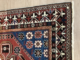 Caucasian carpet size 195 × 110 age 110 And solid