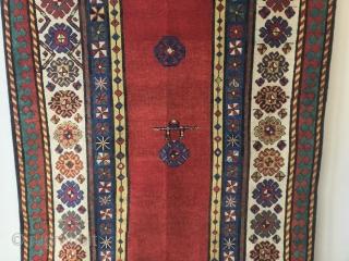 Caucasian Talish antique cm 2.65x1.10    19th century, very good condition, natural colour , very rare red Talish rug. Please more info : info@anatoliantappeti.com