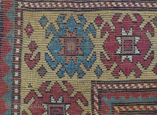 ANTIQUE CAUCASIAN KAZAK KARACHIOP  CM 2,10 X 1.80 1850/60  CIRCA  GOOD  CONDITION