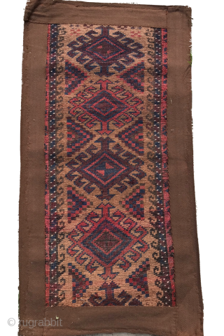ANTIQUE BALISHT CAMEL GROUND CM 0.80 X 0.40  19TH CENTURY   NATURAL COLOURS