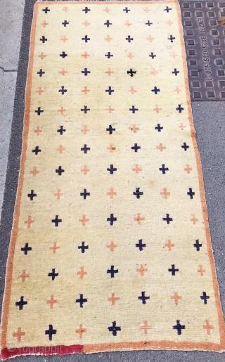 antique tibetan rug  cm 1.75 x 0,76  around 1900