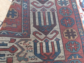 ANATOLIAN  SIVAS  ANTIQUE CM 2.32 X 1.18   1830/50  CIRCA  