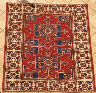 ANTIQUE NORD WEST ANATOLIAN  RUG  CM 1.00 X 0,95 1860/80  CIRCA 