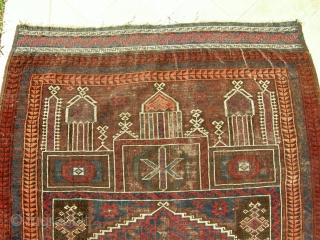 ANTIQUE persian  Baluch Prayer Rug cm 1,28 x 090