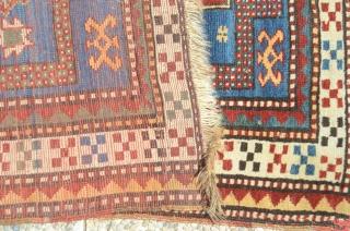 Antique 19th century prayer rug Kazak Karachop