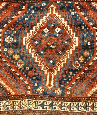 # 822 Arabi khorjin front, 77/63 cm, Southwest Persia, late 19th century, good condition, soft and silky wool, beautiful natural colour palette.