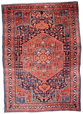 # 519 Rare Nahavand village rug, West Persia, 143/202 cm, ca. 1930, very good condition, full pile, only one small stain.