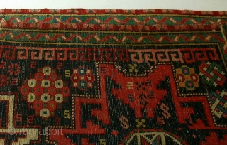 Daghestan rug fragment, NE Caucasus, late 19th century, cm 61x80. What is that makes a Caucasian village rug really enjoyable in the end? Its colours. Better, the return the incoming light, reflected from  ...