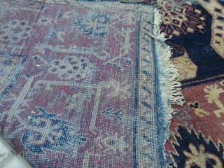 19th century Khotan large rug 7 x 13 ft worldwide shipping
