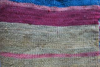 "Southeastern Turkey, Kurdish tribal flat bread ( Lavash) making roller pin holder, sumak weave with goat hair warps. it has couple faded colors. Circa 1900 size : 34"" X 8"" - 87  ..."