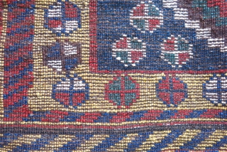 "Luri Qashkai gabbeh bag face with full pile and natural colors. Circa 1900 or earlier. size: 29"" X 24"" - 74 cm X 61 cm"