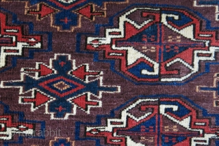 """Turkmen yomud chuval good pile and all good colors.. asymmetrical open to right  size: 50"""" X 29"""" - 126 cm X 74 cm"""