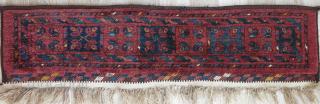"""Turkmen Ersary Torba face, thick pile, all good colors, size: 39"""" X 10"""" -- 99 cm X 25 cm"""