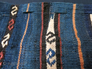 """Caucasus - Shahsavan tribal bag made for special purpose with slits to close it tide. all wool natural colors, original side wrapping. Circa 1900 Size : 20"""" X 14.5"""" - 51 cm  ..."""