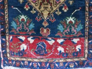 """Konya Aksaray Yastik, Good pile couple early dyes. Circa 1920s. Size: 41"""" X 20"""" - 104 cm X 51 cm"""