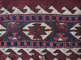 """West Anatolia - Turkmen kilim torba Size : 16"""" X 13.5"""" -- 41 cm X 34 cm"""