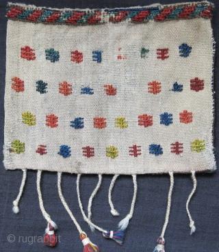 "Qashkai mini travel bag - Circa 19th cent. size :9"" X 7"" -- 23 cm X 18 cm"