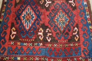 Ceentral Asia Middle Amu Darya Julkur - so called bear skin- 4 panel woven pile ethnic floor spread. circa 1900 wears can be seen - few small areas restored professionally. Size :  ...