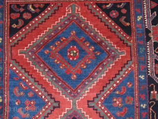 """Baktiari rug with great wool saturated colors and good pile. circa 19th Cent. Size : 4' 2"""" X 7' 2"""" - 218 cm X 127 cm"""