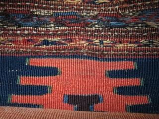 "Shasavan bedding bag end panel, kilim sumak mix weave. Size : 14"" X 11"" - 36 cm X 28 cm"