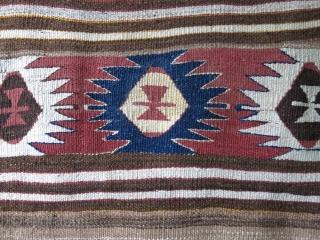 "Anatolian Taurus Mt. Turkmen sofreh natural brown wool, camel hair mixed weave Circa 1900s size: 54 "" X 41"" -- 138 cm X 105 cm"
