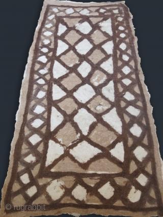 Anatolia – Konya Taurus mountains tribal Turkmen natural wool felt. First half of 20th century  Size: 94″ X 48″ – 240 cm X 123 cm