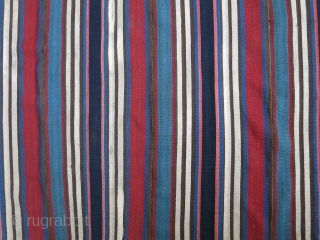 """Shahsavan wool jajim with great colors.. couple very small old reapirs. size : 89"""" X 70"""" --225 cm X 170"""