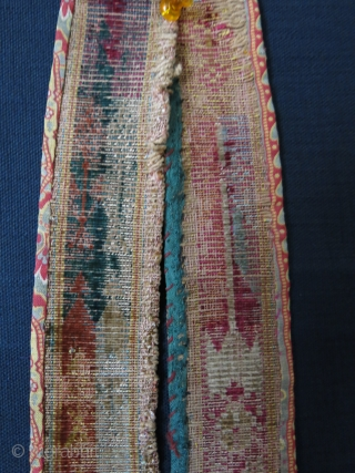 "Central Asia Bokhara both side velvet woman's belt. size: 45"" X 2"" - 115 cm X 5 cm"