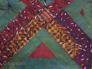 "Turkmen Yomud Bokhcha face silk embroidery on fine silk, Circa: First half of 19th cent. Size: 21"" X 17"" -- 53 cm X 43 cm"