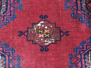"""Turkmen Salor Chuval face. Circa 1900 -1920s, open to left, mostly good pile, size - 65"""" X 33"""" -- 165 cm X 84 cm"""