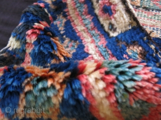 "Baktiar full thick pile bag face. great colors, wool and condition. Size: 22"" X 18"" -- 56 cm X 46 cm"