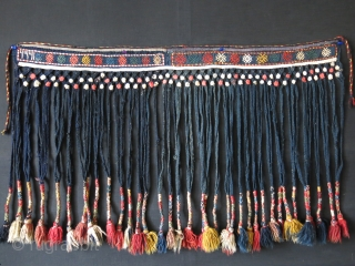 SHAHSAVAN tribal hand woven and braided wool tassels for tent decoration. The date reads: 1332 and converting to present day over the century. Finely braided and long tassels.Circa: late 19th century Size: 36″  ...