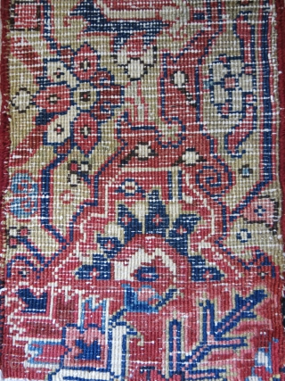 "Heris border sampler, good pile and colors Circa 1900 -1920 Size : 25"" X 10.5"" - 64 cm X 27 cm"