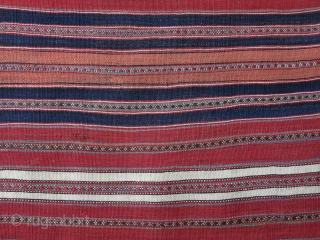 """Mazanderan mini antique minimalist kilim, all wool, natural colors. Circa 1900 size: 46"""" X 27"""" -- 117 cm X 69 cm"""