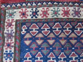 "Bijar area shasavan small bag, some wear on lower end, soem repair on back side. size : 1-"" X 9.5"" -- 25.5 cm X 24 cm"