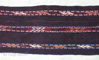 "Turkmen Chuval face, all wool, natural colors. Circa 1920-1930. Size : 33"" X 27"" --87 cm X 69 cm"