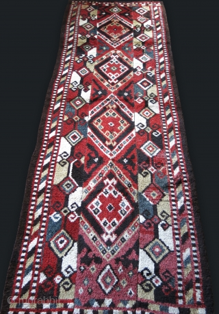 """Central Asia Middle Amu Darya all wool julkur rug. woven in panels, natural colros Circa 1900s. 134"""" X 48"""" - 340 cm X 122 cm"""