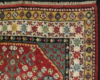 "Macedonia Manastir prayer rug with full pile, 19th century. Some minor repairs. Size: 50"" x 72"" - 128 cm x 183 cm."