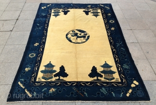 China Beijing petau carpet 1910 or 1920s 