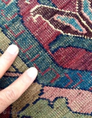"Persian bidjar fragmant rug ""  size 157x137cm"