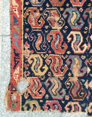 Shahsavan fragmant carpet size 153x63cm