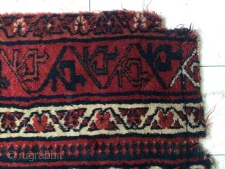 Shiraz Fragmant Tent door cover 1820 circa size 120x85cm  100x85cm