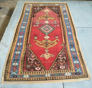 Bidjar kilim all are colors natural and camel wool size 360x180cm