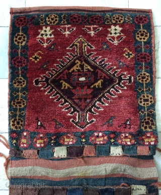 Shahsavan Kurdish saddle bag size one bag  face 50x50cm another face 50x51cm